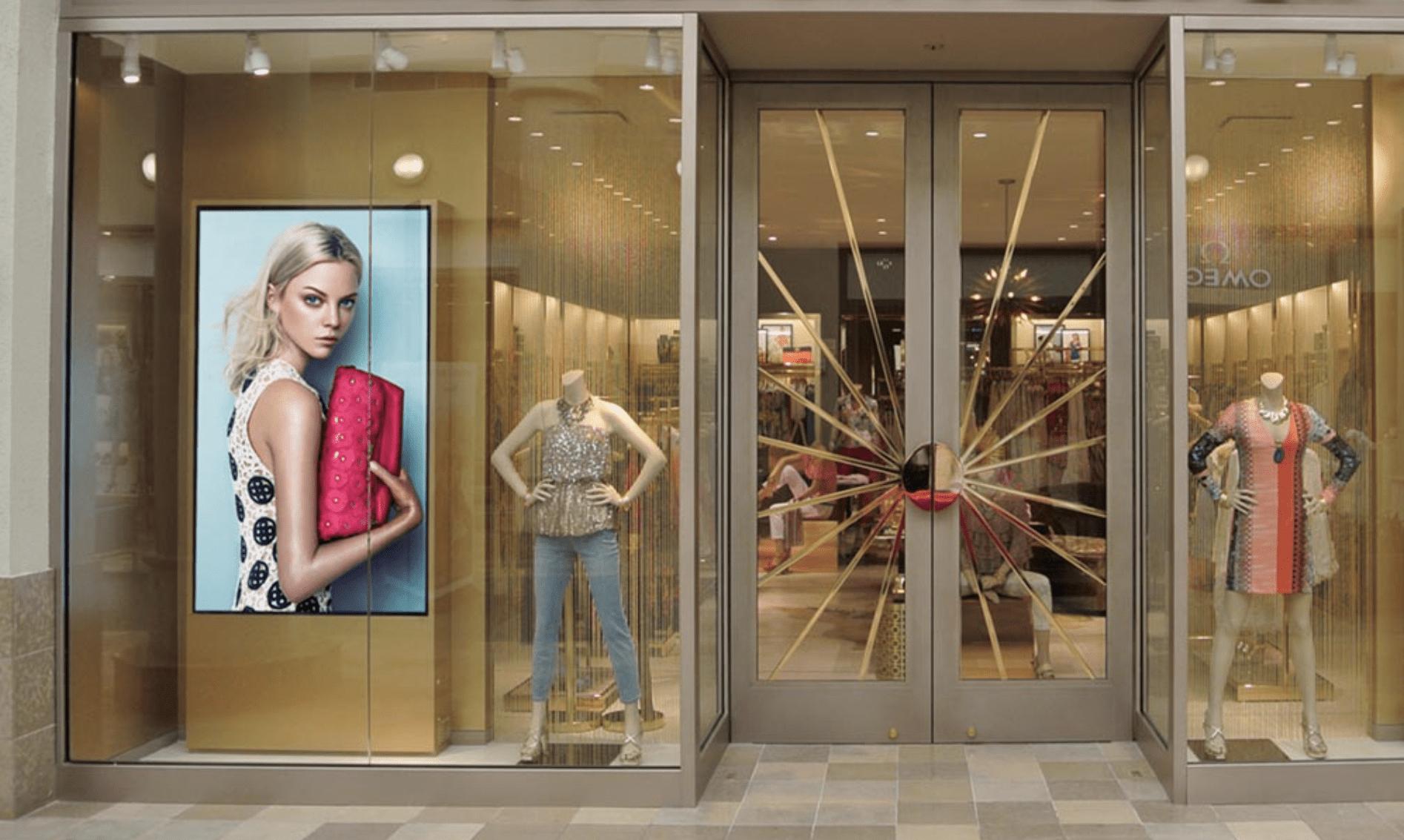 Digital Signage display in the shop window